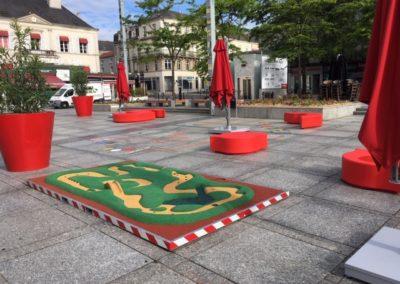 Circuit de billes sur châssis Place Travot Cholet